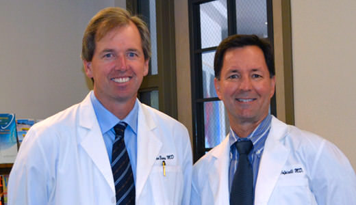 Dr Dan Beers and Dr Mark Volpicelli of Peninsula Laser Eye Medical Group of Mountain View