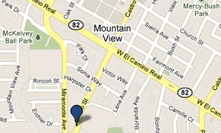 Peninsula Laser Eye Medical Group of Mountain View Map